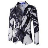 ขาย White Blazer Men Printed Men Blazers Casual Suit Jacket Slim Fit Wear Brand Coat Homens Blazer Mens Stage Intl Unbranded Generic ผู้ค้าส่ง