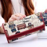 ขาย Wichu Bag กระเป๋าเงินผู้หญิง กระเป๋าสตางค์ใบยาว กระเป๋าสตางค์ตามวันเกิด ลายหมี รุ่น Lw 032 สีเเดง Wichu Bag