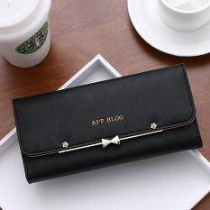 ขาย Wichu Bag กระเป๋าเงินผู้หญิง กระเป๋าสตางค์ใบยาว กระเป๋าสตางค์ตามวันเกิด รุ่น Lw 023 สีดำ ถูก กรุงเทพมหานคร