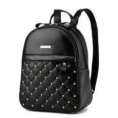 ซื้อ Wichu Bag กระเป๋าสะพายหลัง ผู้หญิง กระเป๋าแฟชั่น กระเป๋าเป้เกาหลี รุ่น Lp 116 สีดำ Wichu Bag ถูก