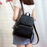 ราคา Wichu Bag กระเป๋าสะพายหลัง ผู้หญิง กระเป๋าแฟชั่น กระเป๋าเป้เกาหลี รุ่น Lp 131 สีดำ ใหม่ ถูก