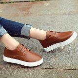 ซื้อ Wichu Shoes รองเท้าผ้าใบสีขาว แฟชั่น รองเท้าผ้าใบผู้หญิง รองเท้าแฟชั่นผู้หญิง รุ่น S 016 สีน้ำตาล