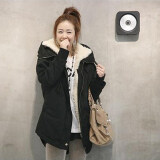 ขาย ซื้อ ออนไลน์ Winter Women S Fleece Parka Warm Coat Hoodie Overcoat Long Jacket Black Type 1 Intl