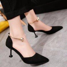 ใหม่ปรับลูกปัดแฟชั่นผู้หญิงรองเท้าส้นสูงเท้า สีดำ Unbranded Generic ถูก ใน จีน