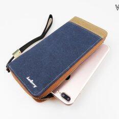 ขาย Allday Wl02 Blue กระเป๋าสตางค์ใบยาว กระเป๋าสตางค์ผู้ชาย ผ้าแคนวาส สีน้ำเงิน เป็นต้นฉบับ