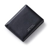 Woman Short Wallet 2017 Card Multi Hasp Simple Wallet Purse Letters Black Intl เป็นต้นฉบับ