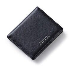 ขาย ซื้อ ออนไลน์ Woman Short Wallet 2017 Card Multi Hasp Simple Wallet Purse Letters Black Intl