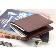ราคา Womdee Foonee Men S Genuine Leather Wallet First Layer Bifold Oil Wax Wallet Dermis Leather Wallet Passport Holder Credit Card Pocket Travel Wallet Intl Womdee เป็นต้นฉบับ