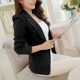 ขาย Women Blazers Jackets Suit Shrugged Coat Slim Ol Business Formal Female Ladies Office Outwear Single Breasted Intl จีน