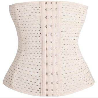 Women Body Shaper Trimmer Waist Cincher Tummy Control Girdle Slim Abdome Belt Skin Color M - intl