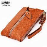 ส่วนลด Women Cow Leather Fashion Wristlets Bag Color Brown Size 16 9 6 2Cm Intl จีน