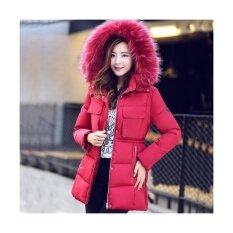 ราคา Women Fashion Medium Long Section Winter Jacket Slim Female Coat Thicken Parka Down Cotton Clothing Red Intl Unbranded Generic