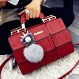 ราคา Women Ladies Handbag Tote Lady Phone Hand Bag Wallet Red Intl