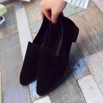 ผู้หญิงรองเท้าสตรีรองเท้าส้นเตี้ยรองเท้าลำลอง Solid เสื้อโลฟเฟอร์แบบแฟชั่น
