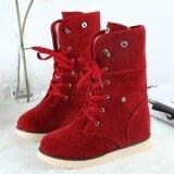 ขาย Women Lady Boots Comfort Shoes Flats Lace Up Round Toes Ankle Winter Warm Rd 35 Intl Unbranded Generic