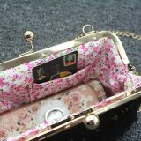 ขาย ซื้อ Women Lady Shining Sparkling Small Wallet Hasp Purse Clutch Bag Chain Bag Intl ใน จีน