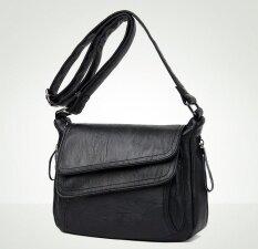 ซื้อ Women Leather Handbags Summer Style Women Bag Sac A Main Femme Luxury Handbags Women Bags Designer Small Handbag 2017(Black) Intl Unbranded Generic ถูก