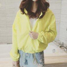 ขาย Women Lightweight Jackets Long Sleeve Baseball Jacket Sunscreen Female Wind Coat Hooded Intl จีน ถูก
