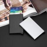ซื้อ Women Men Aluminum Slim Id Credit Card Rfid Protector Holder Purse Wallet Case Black Intl ถูก