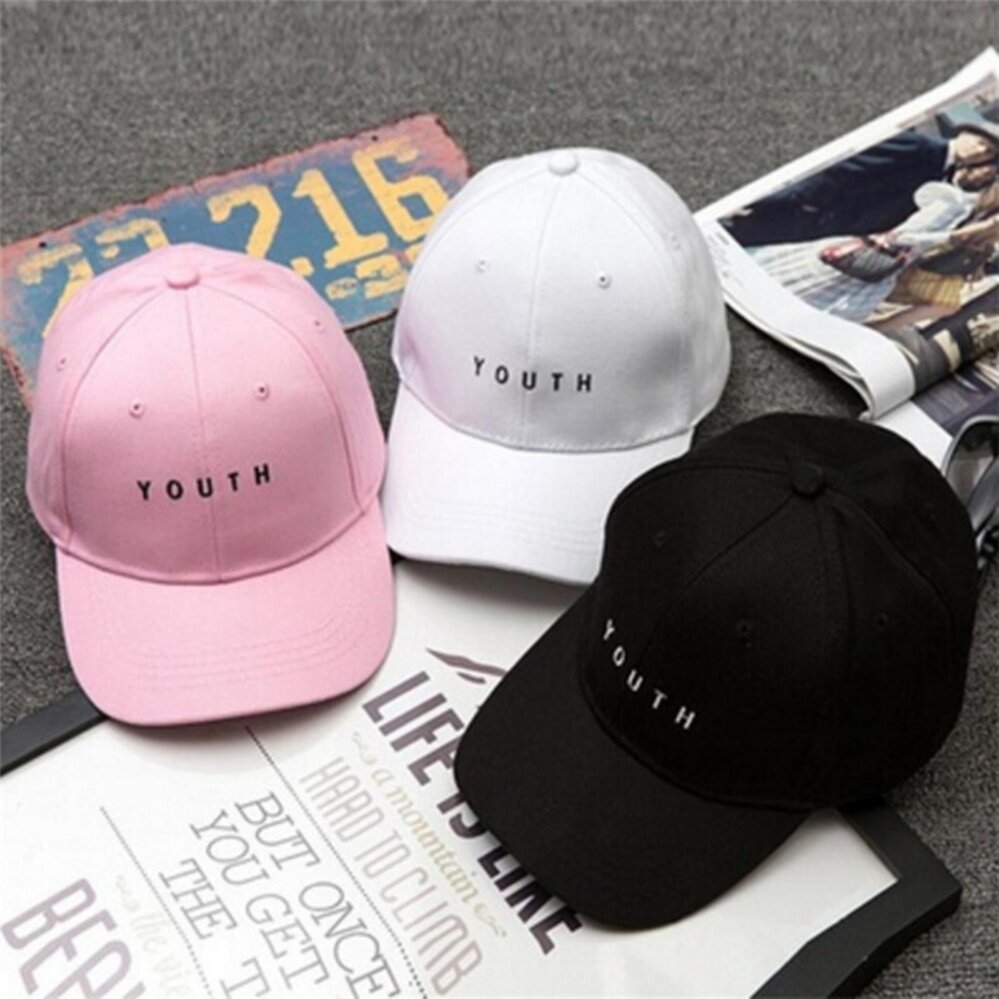 Women Men Baseball Cap Hip Hop Youth Cotton Casquette Adjustable Hat White One size - intl