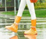 ขาย Women Men Kids Waterproof Outdoor Travel Reusable Foldable High Cylinder Flat Pvc Rain Boots Shoes Covers Orange Intl ออนไลน์ Thailand