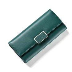 ขาย Women Multifunction Big Capacity Leather Zipper Wallet 2017 New Korean Style Long Wallet Green Intl Unbranded Generic ออนไลน์