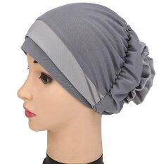 ผู้หญิงมุสลิมหมวกยืด Turban หมวกคีโมผมสูญเสียหัวคลุมผ้าพันคอ Hijab หมวก By Fashiondoor.