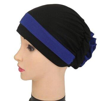 Women Muslim Stretch Turban Hat Chemo Cap Hair Loss Head Scarf Wrap Hijib Cap - intl