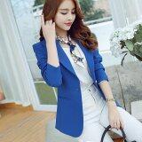 ราคา Women New Blazer Suit Coat Slim Long Sleeve Female Casual Blazers Dark Blue Intl จีน