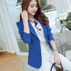 ราคา Women New Blazer Suit Coat Slim Long Sleeve Female Casual Blazers Dark Blue Intl Unbranded Generic เป็นต้นฉบับ