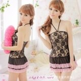ซื้อ Women Nightdress Babydoll Sheer S*xy Lingerie Set Lace S*xy Sleepwear Intl ถูก ใน จีน