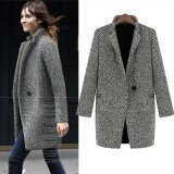 ราคา Women Ol Jacket Elegant Women Winter Wool Coats Plus Size Grey Warm Cotton Trench Laides Velvet Thick Jacket Long Overcoat Intl ใหม่ ถูก