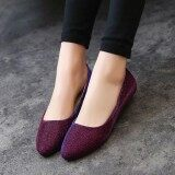 ราคา Women Ol Slip On Loafers Casual Glitter Ballet Ballerina Flats Shoes Candy Color ถูก