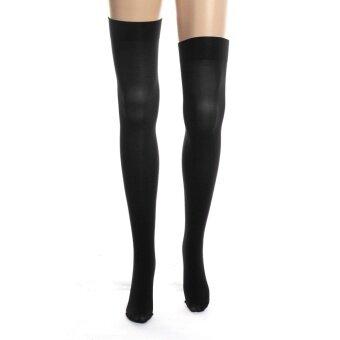 ผู้หญิงทึบไนลอนมากกว่าถุงน่องต้นขาเข่าถุงเท้าสูงถุงน่องถุงน่อง US Black