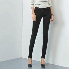 ขาย Women Pencil Pant 2017 New Slim Denim Jeans Ladies Jean Trousers Black Intl