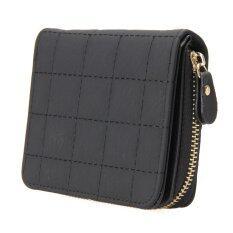 ราคา กระเป๋าสตางค์ผู้หญิงสั้น Pu แบบซิป มีช่องใส่เหรียญ Vakind