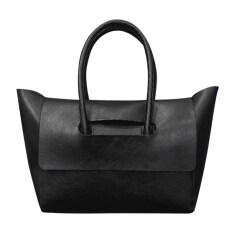 ราคา Women Retro Pu Leather Shoulder Bag Black เป็นต้นฉบับ