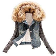 โปรโมชั่น กางเกงยีนส์แจ็คเก็ตฤดูหนาวขนสัตว์แกะผ้ายีนส์ N Mc Jeans Moonar