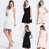 ซื้อ Women Sleeveless Party White Mini Dress Intl ใน จีน