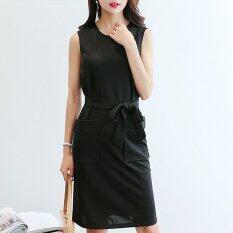 ซื้อ ผู้หญิงฤดูร้อนชุดดินสอคอสูงเอวสุภาพสตรี นานาชาติ ถูก ใน จีน