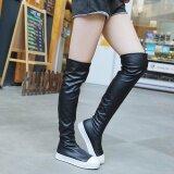 โปรโมชั่น Women Slim Boot S*xy Fashion High Knee Length Rubber Boot Shoes Long Boots Bk 35 Intl Unbranded Generic ใหม่ล่าสุด