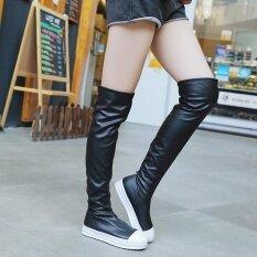ขาย Women Slim Boot S*xy Fashion High Knee Length Rubber Boot Shoes Long Boots Bk 35 Intl ถูก จีน