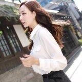 ขาย Women Spring Autumn Chiffon White Shirts Elegant Ladies Blouse Long Sleeve Casual Tops Intl ใน จีน