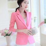 ขาย ซื้อ Women Spring Autumn Slim Blazers Suit Long Sleeve Ladies Ol Office Casual Coats Single Button Intl ใน จีน