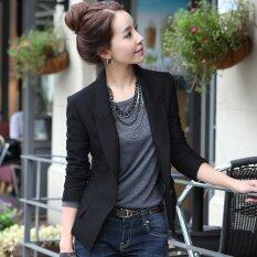 ราคา Women Spring Autumn Slim Short Style Blazer Female Business Coat Formal Casual Suit Single Button Black Intl เป็นต้นฉบับ Unbranded Generic