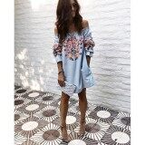 ราคา Women Summer Boho Floral Casual Evening Party Cocktail Beach Short Mini Dress Intl เป็นต้นฉบับ