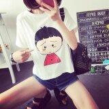 ขาย Women Summer Short Sleeve Casual White Print T Shirt Shirt Top Intl Unbranded Generic เป็นต้นฉบับ