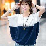 ซื้อ Women Summer Tops Short Sleeve T Shirts Batwing Sleeves Loose Plus Size Tshirt Intl ถูก จีน