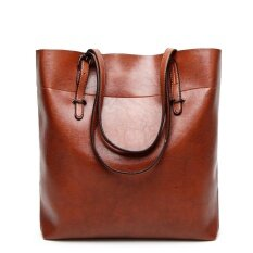 Women Top Handle Satchel Handbags Shoulder Bags Tote Purse Messenger Bag Brown Intl เป็นต้นฉบับ