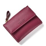 ขาย Women Wallet Pu Leather Mini Coin Purses Small Zipper Short Wallets Id Credit Card Holders Fashion Cute Girls Purse Red Intl ผู้ค้าส่ง